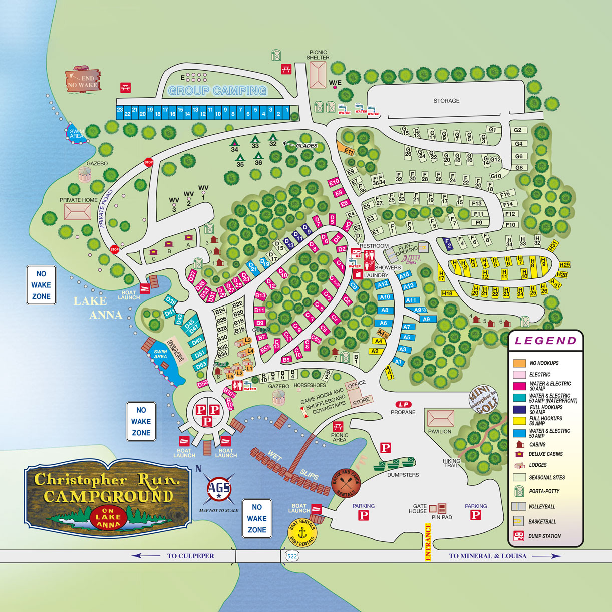 Christopher Run Campground Campground Maps Directions Lake